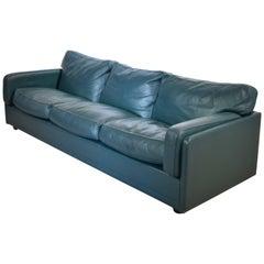 Poltrona Frau Socrate Three-Seat Sofa in Green/Petrol Leather