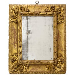Carved and Gilded Reverse Profile Spanish Baroque Mirror Frame