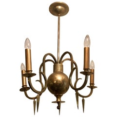 Swedish Grace Bronze Chandelier, 1920
