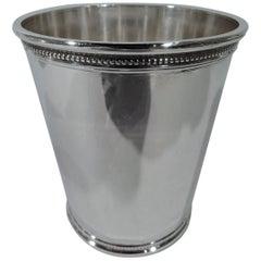 Nixon-Era Sterling Silver Mint Julep Cup by Scearce of Kentucky
