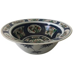 Very Rare and Large Chinese Famille Verte Bowl, Late 19th Century