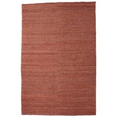Medium Terracotta Hand-Knotted Jute Earth Rug by Nani Marquina & Ariadna Miquel