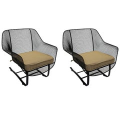 Sculptura Spring Lounge Pair of Chairs by Woodard