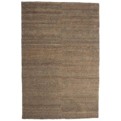 Khaki Earth Rug in Hand-Knotted Jute by Nani Marquina & Ariadna Miquel, Medium
