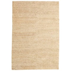 Cream Earth Rug in Hand-Knotted Jute by Nani Marquina & Ariadna Miquel, Medium