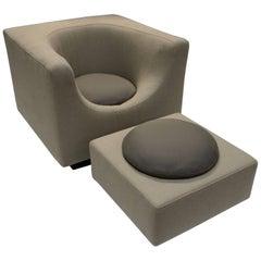 Saporiti Chair and Ottoman