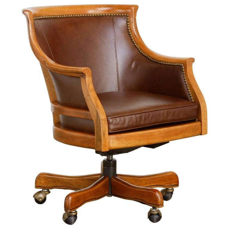 Maple Executive Office Desk Chair By Leathercraft For