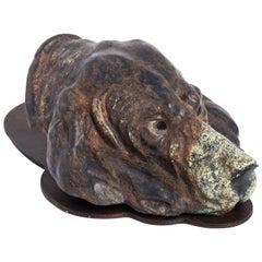 Cast Iron Hound Dog Paper Holder