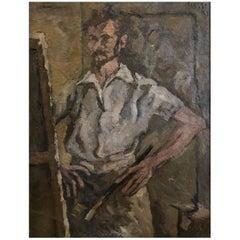 20th Century Daniel Clesse, Self Portrait