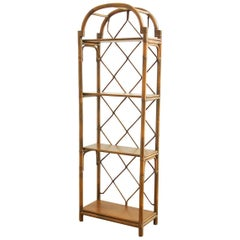 Bamboo Rattan Display Shelf Bookcase by Brown Jordan