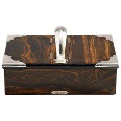 20th Century Cigar Box in Coromandel Wood & Silver by Mappin & Webb London, 1902