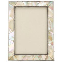 Mother-of-Pearl and Silver Photograph Frame London, 1923-1924