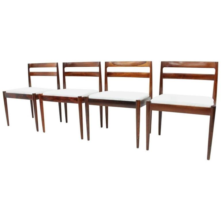 """Set of Four Dining Chairs """"Universe 301"""" by Kai Kristiansen for Magnus Olesen"""