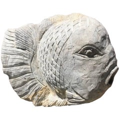 Big Fish Sculpture for Home, Garden or Nautical Fishermen's  Space Hand Carved