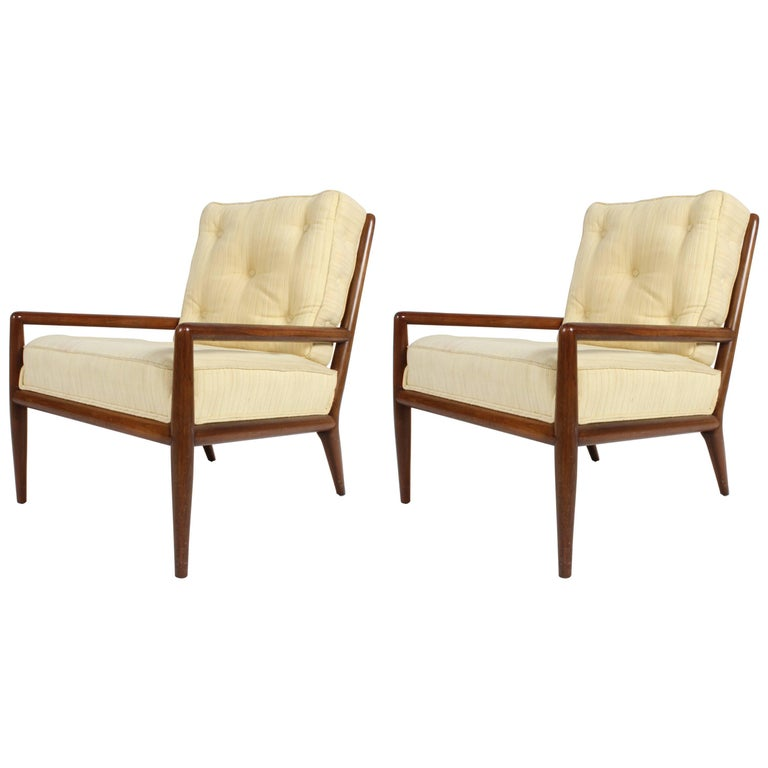 Pair of Classic T.H. Robsjohn-Gibbings for Widdicomb Lounge Chairs For Sale
