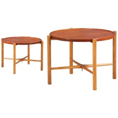 Hans J. Wegner Reversible Tray Top Side Tables for Andreas Tuck