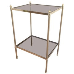 Mid-Century Modern Brass and Glass Side Table by Maison Jansen