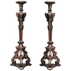 Pair of French Louis XVI Style '19th Century' Gilt Open Design Pedestals