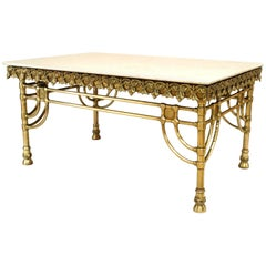 French Victorian Large Brass Pastry 'Butcher' Table