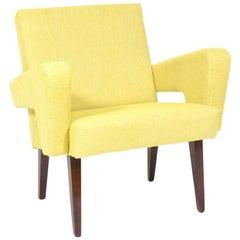 Vintage Czech Yellow Lounge Chair