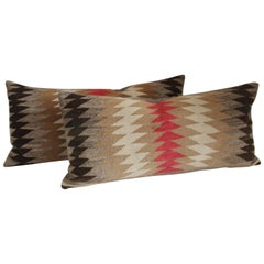 Navajo Weaving Flying Geese Pillows, Pair
