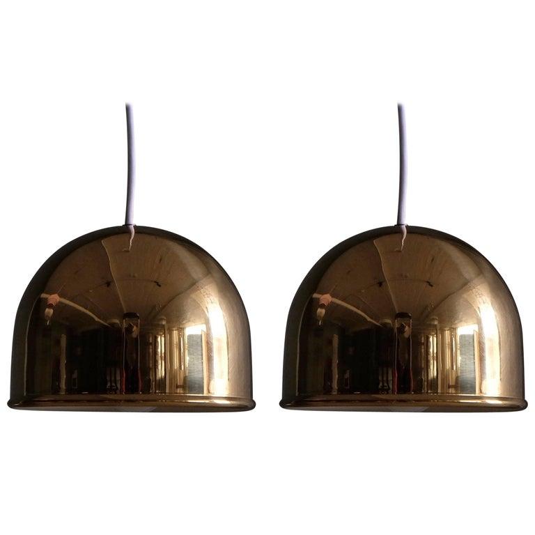 Pair of Bergboms Ceiling Pendant in Brass, 1960s