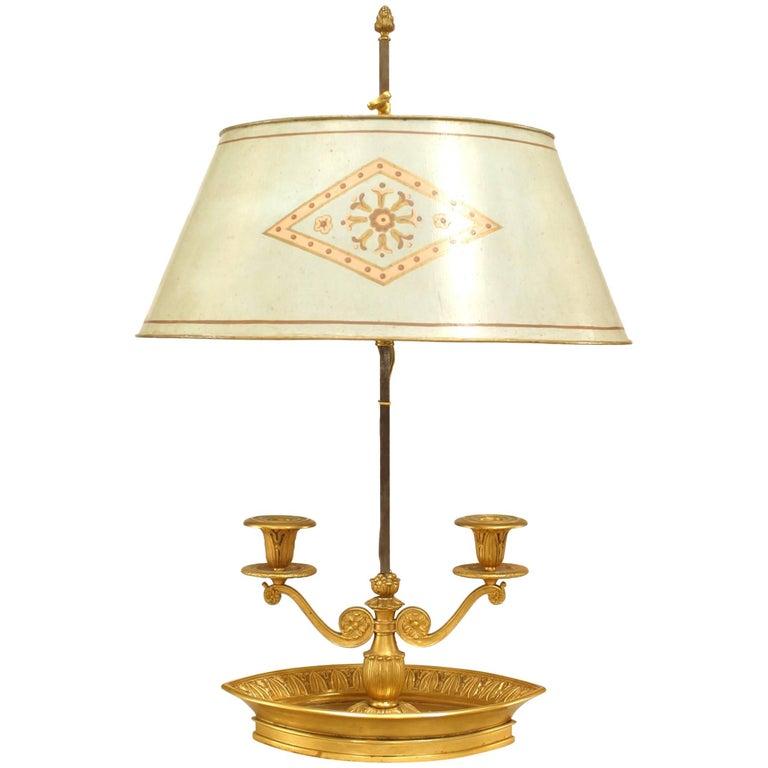 French Victorian '19th Century' Gilt Bronze Bouillotte Lamp