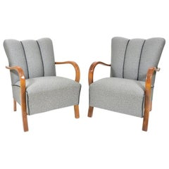Czech Armchairs, 1950s, Set of Two