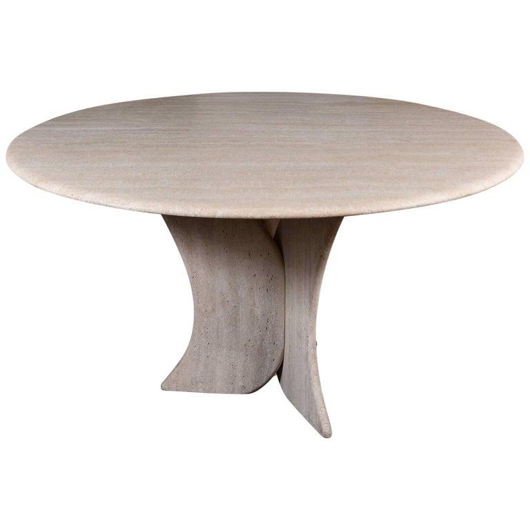 Vintage Travertine Table For Sale