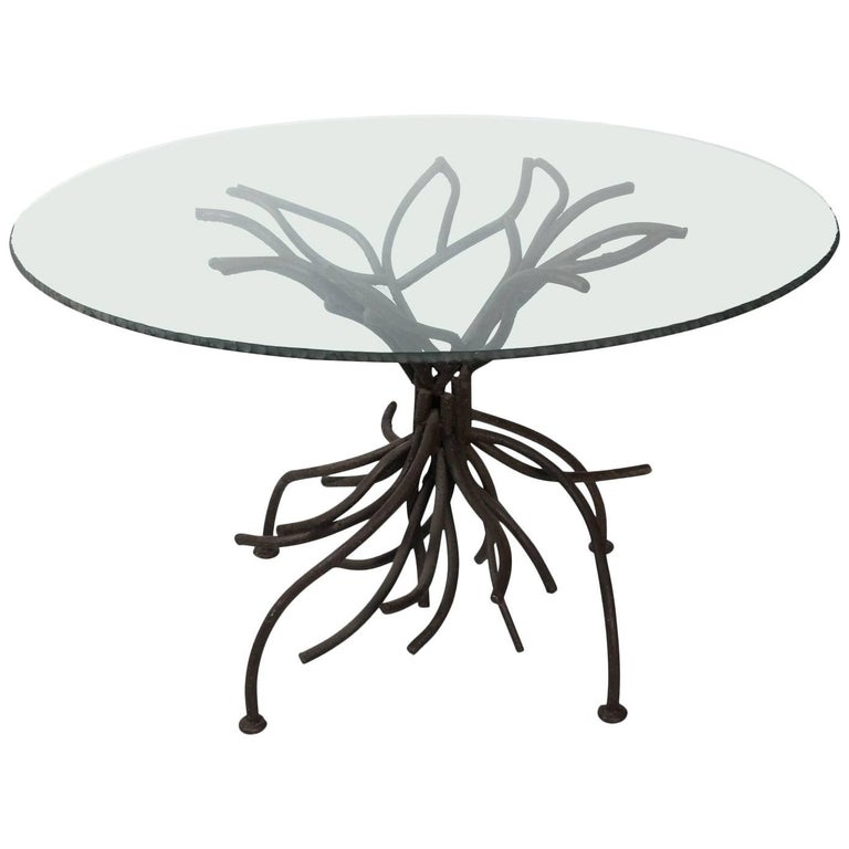 Contemporary Iron and Glass Centre Table