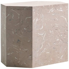 Playtime Series, Sally Side or End Table Handmade Hydrostone Scagliola