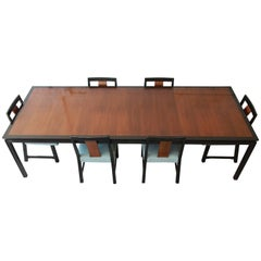 Edward Wormley for Dunbar Mid-Century Modern Dining Set, 1950s
