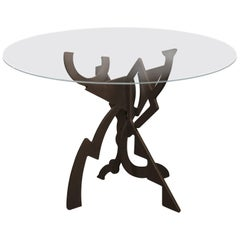 "Pucci De Rossi ""Tristan et Iseult"" Steel Table Base"