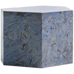 Playtime Series, Bud Side or End Table Handmade Hydrostone Scagliola