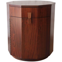 Harvey Probber Mid-Century Modern Rosewood Dry Bar Cabinet