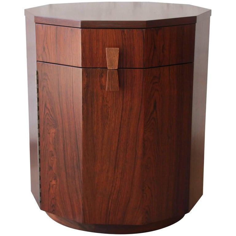 Harvey Probber Mid-Century Modern Rosewood Dry Bar Cabinet