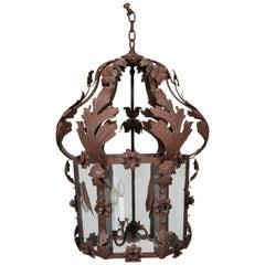 19th Century Venetian Tole Hexagonal Lantern