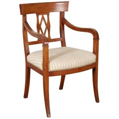 French Empire Fruitwood Armchair