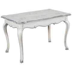 Blue and White Trompe L'oeil Coffee Table