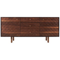 Contemporary 100xbtr Kragsyde Credenza in Solid Walnut and Paperstone