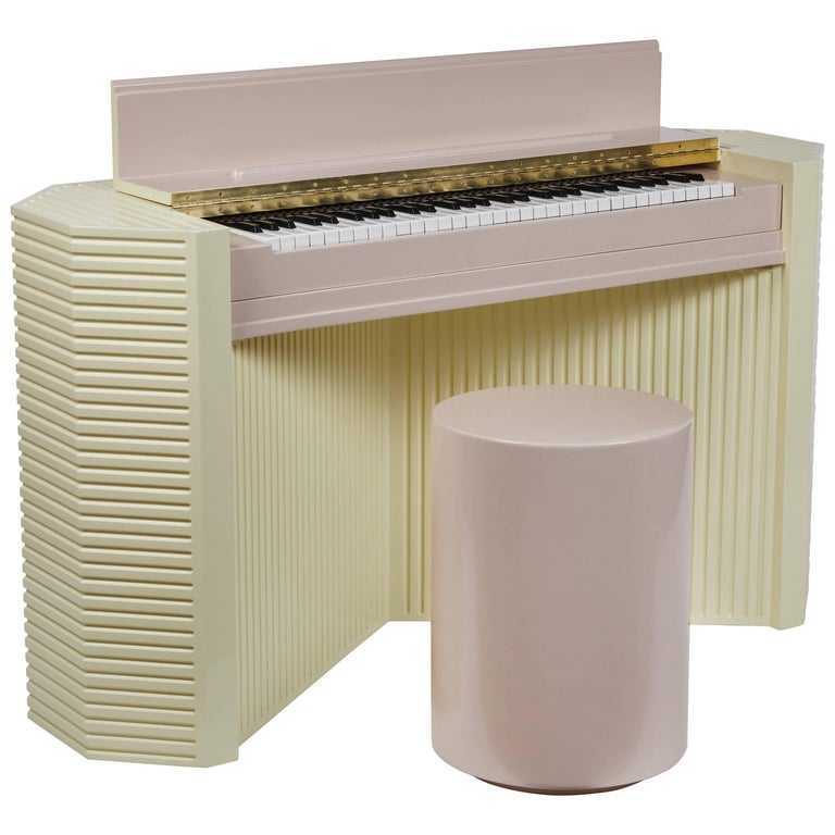 Marzipan Pianette by Wall for Apricots and Jason Schwartzman, Piano in Maple For Sale