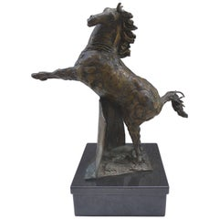 Bronze Horse Sculpture by the Mexican Artist Heriberto Jaurez