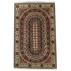Vintage Pakistani Rug with Repeating Border Design