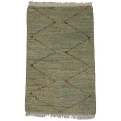 New Contemporary Moroccan Style Rug with Tribal Design, Entry or Foyer Rug