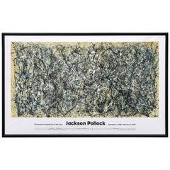 Monumental MOMA Jackson Pollack Exhibition Lithograph Poster 1998-1999