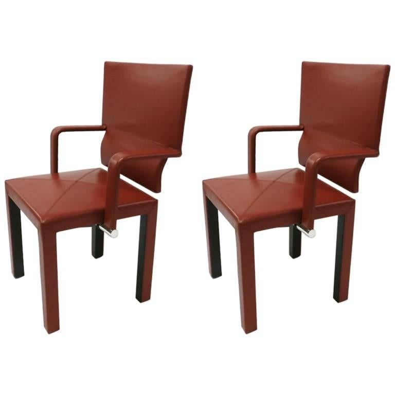Pair of Leather Armchairs by Paolo Piva,  Signed B&B Italia Designed in 1985