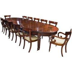 Antique Victorian Dining Table and 12 Chairs 19th Century