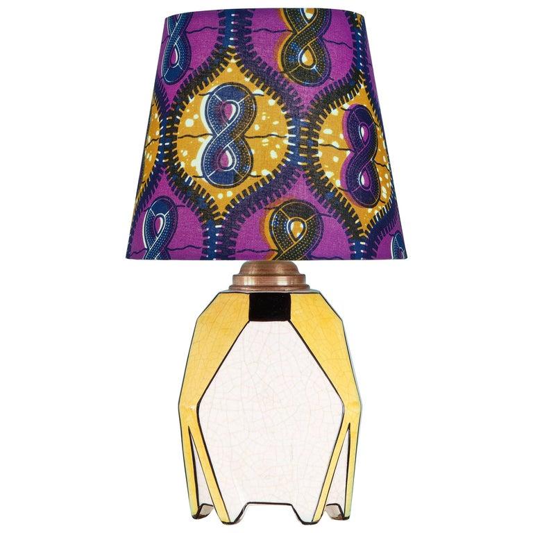 Vintage Ceramic Art Deco Table Lamp For Sale