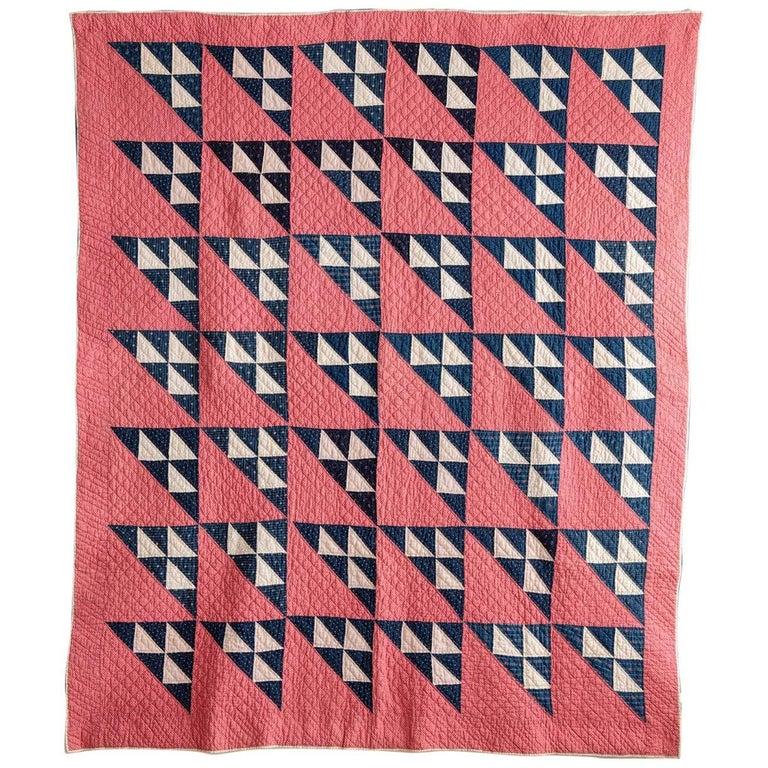 Vintage Patchwork Quilt For Sale