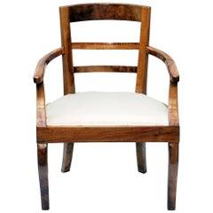 19th Century Biedermeier Armchair Solid Walnut